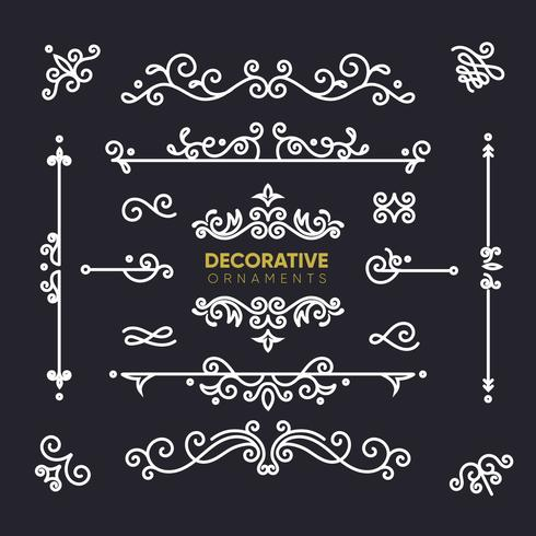 Retro decoratieve ornamenten collectie