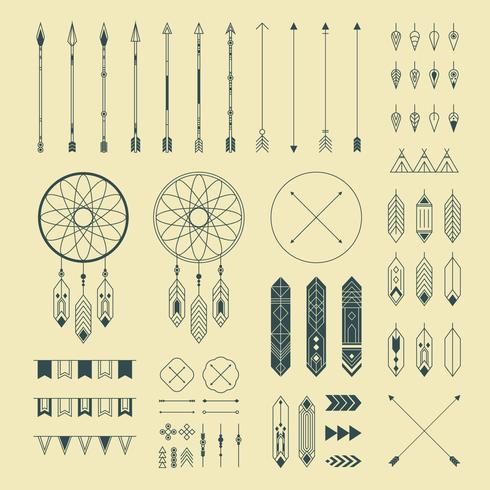 Ornements décoratifs indiens Hipster