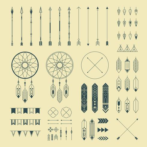 Ornamentos decorativos indiano Hipster