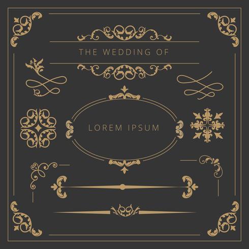 Hochzeits-Elemente-Sammlung