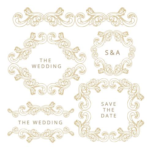 Wedding Element Collection vector