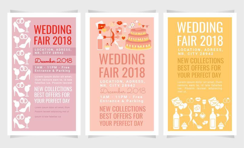 Vektor bröllop Fair Flyers