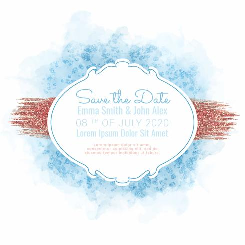 Vector Save the Date Card