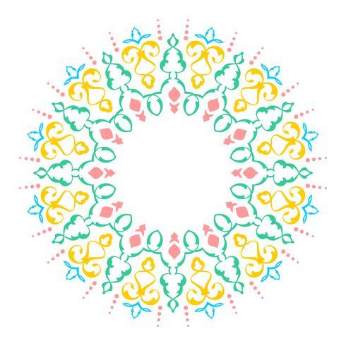 Mandala Decorative Ornaments White Background Vector