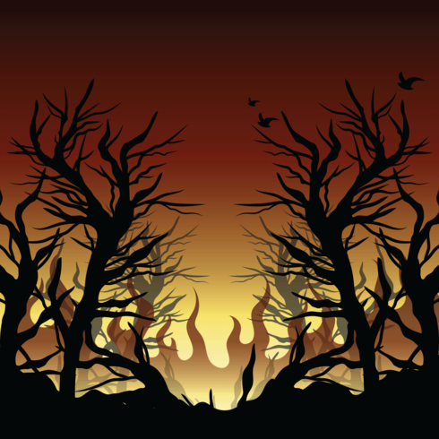 brinnande buske illustration