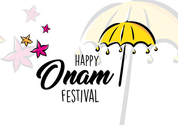 Carte de croquis Happy Onam