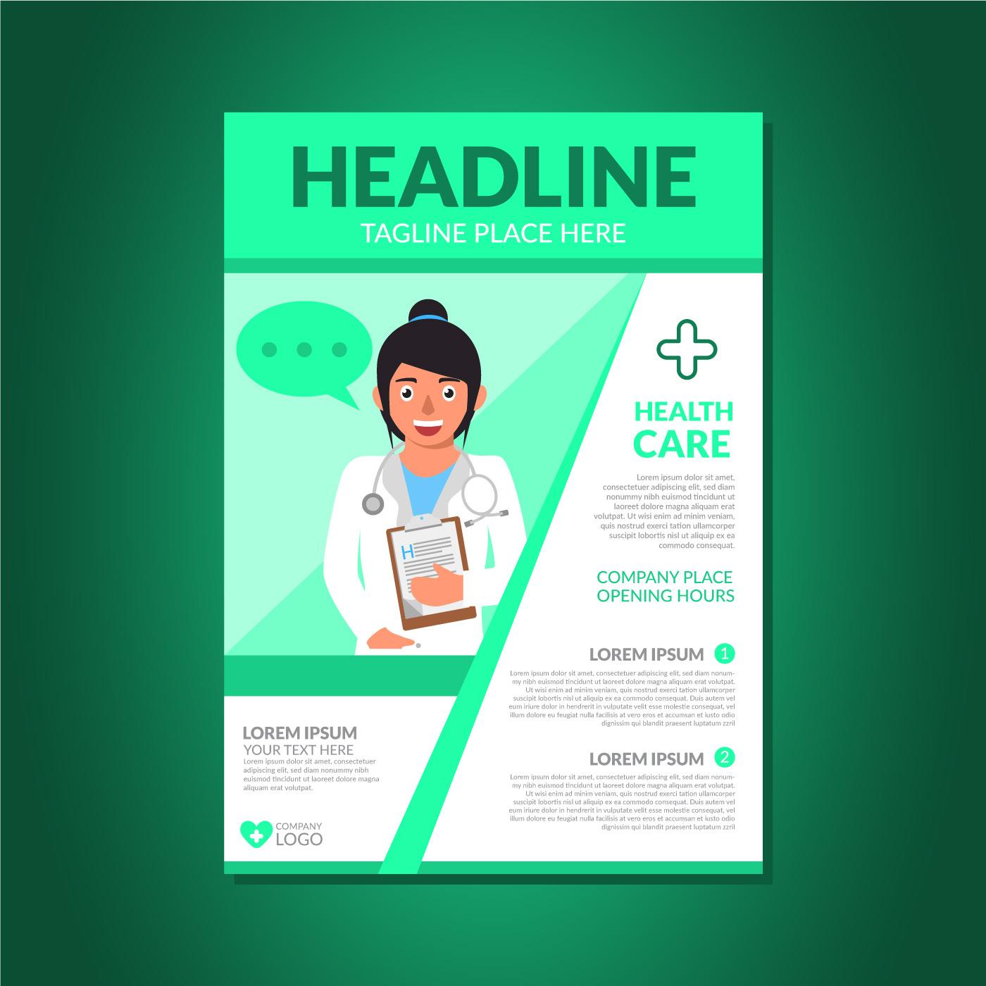 Health Brochure Template Download Free Vector Art Stock Graphics