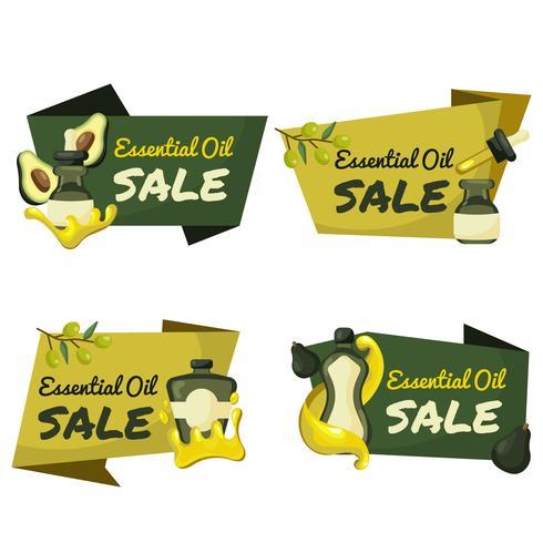 Etiquetas de venta de aceites esenciales