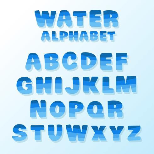 Vatten alfabetvektor