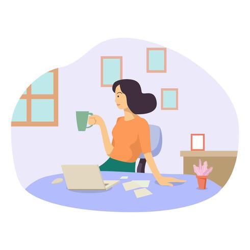 Geschäftsfrau-Vektor-Illustration