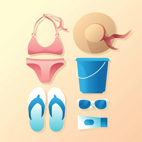 Beach Accessories Knolling