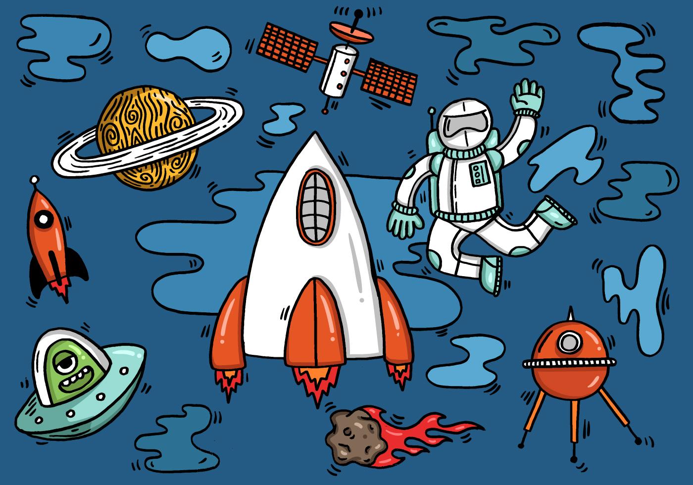 Spaceship Free Vector Art