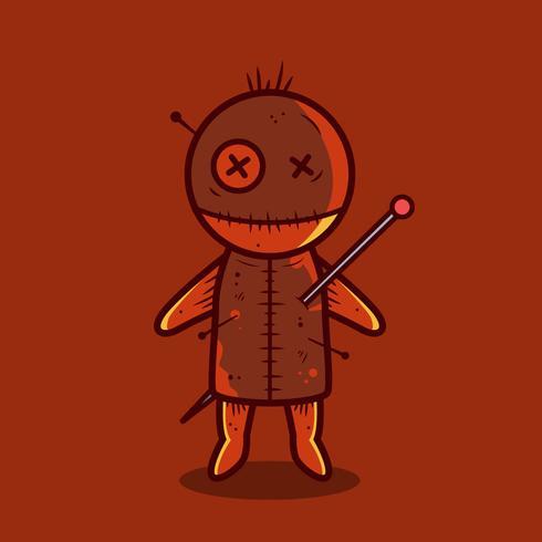 Vecteur de poupée vaudou