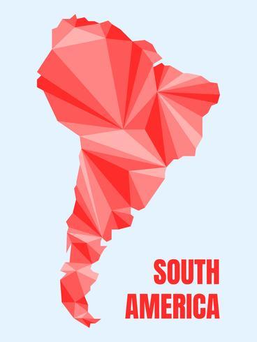 Unieke moderne Zuid-Amerikaanse kaartvectoren