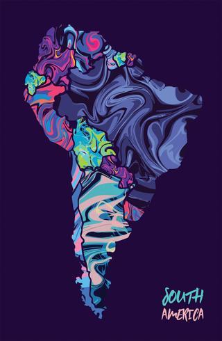 Conception de vecteur de carte moderne Amérique du Sud