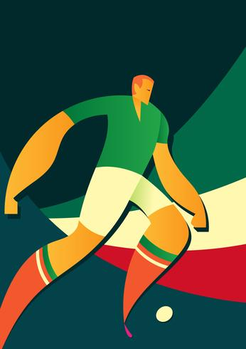 Mexico World Cup Soccer Players Vector