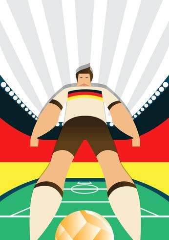 Germany World Cup Soccer Players Standing Poses