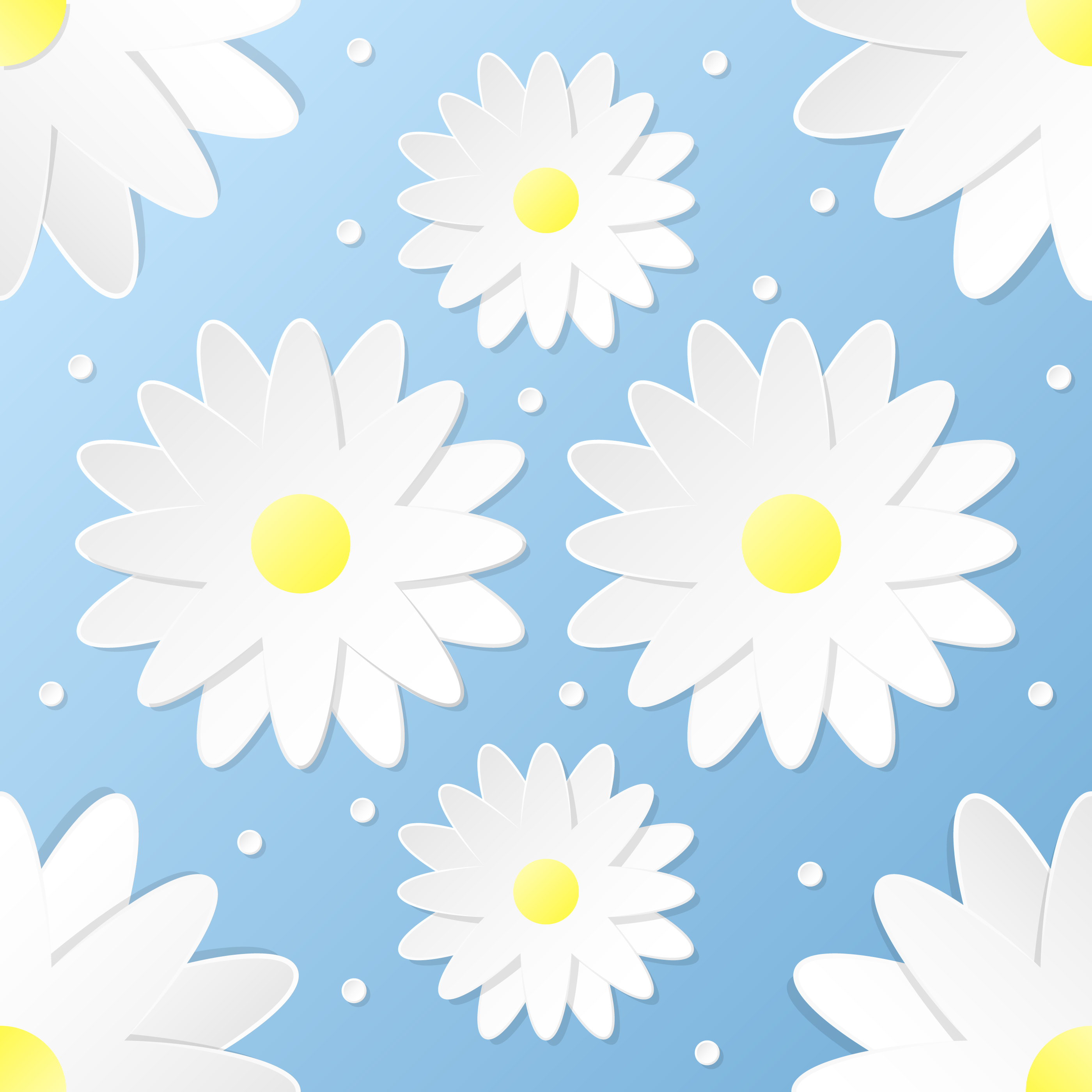 Paper Craft 3d Flowers Seamless Pattern Download Free Vector Art