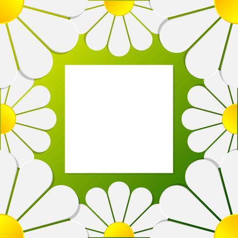 Papier 3d fleur Art Floral Frame Pattern