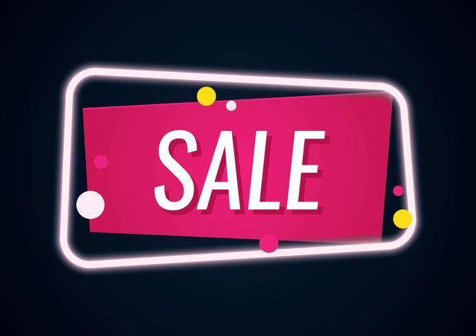 Geometrische Neon Sale-banner