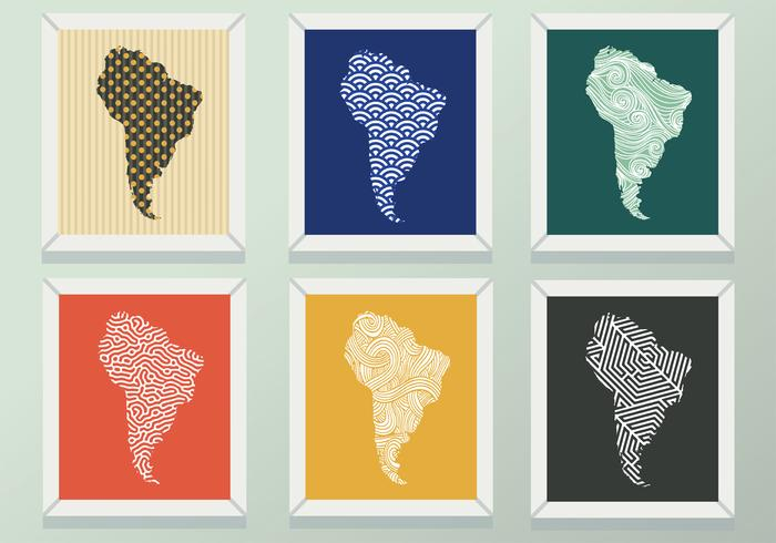 Modern South America Map Pattern Vector Pack