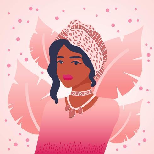 Vector de mujeres de color