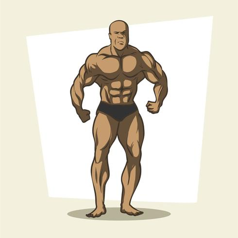 bodybuilder vecteur