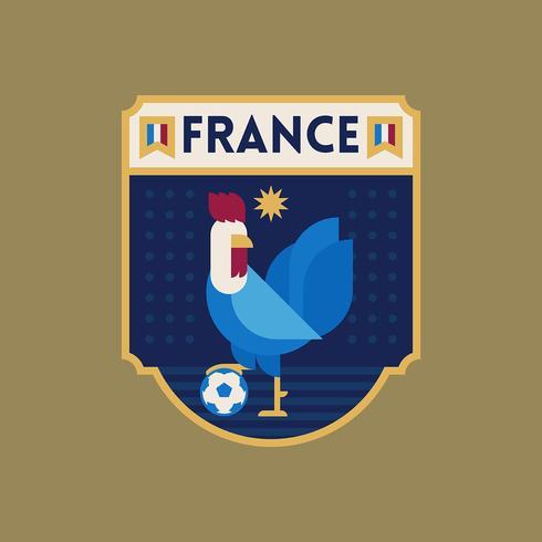 Emblemas do futebol da copa do mundo de France