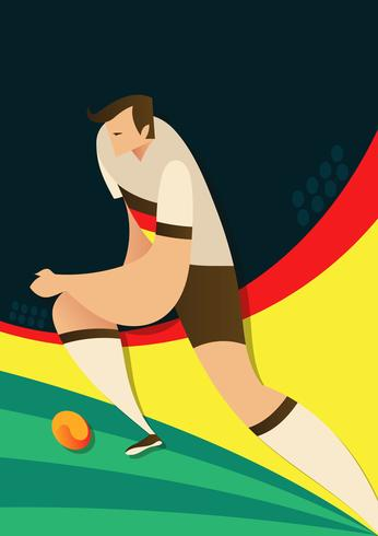 Duitsland World Cup Soccer Players Vector