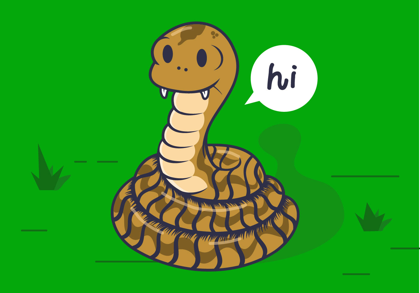 Coiled Cartoon Rattlesnake Vector - Download Free Vectors ...