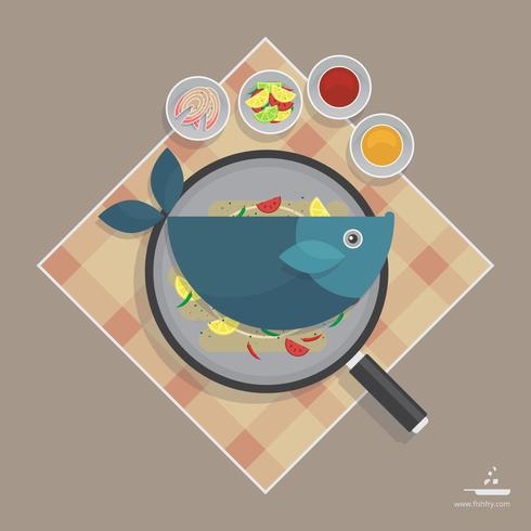 Friday Fish Fry Seafood Advertising Template