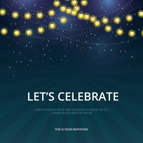 Modèle d'invitation de défilé de célébration.