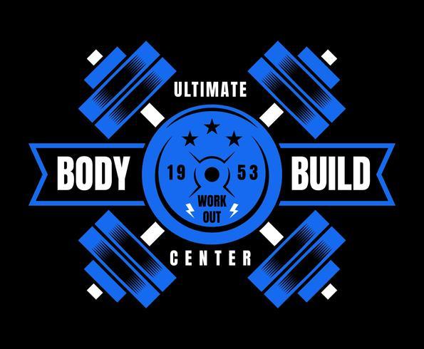 uitstekende bodybuilder-vectoren