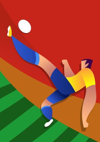 Ilustração em vetor de futebol do Brasil Copa do mundo