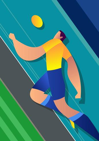 Brazil World Cup Soccer Player Illustration