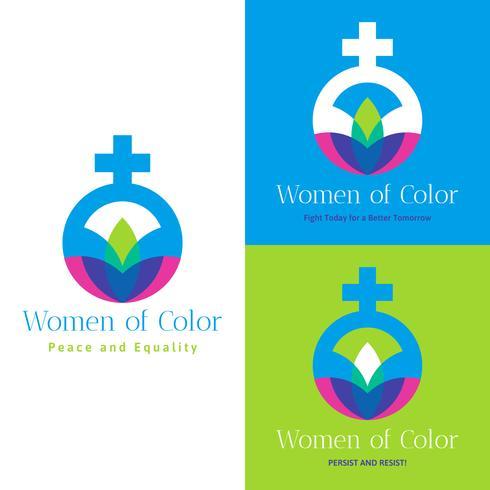 Mulheres incríveis de vetores de cores