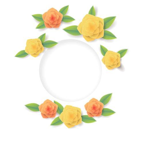 3D Floral Papercraft Vektor-Illustration