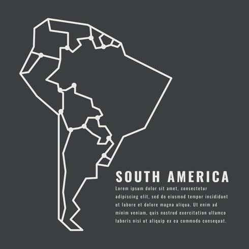 Resumo do continente da América do Sul