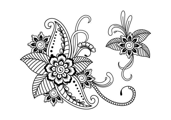 Henna Art Illustration