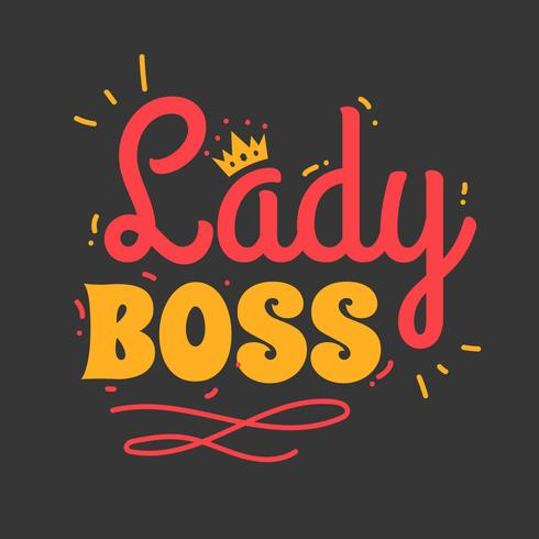 lady boss typografi