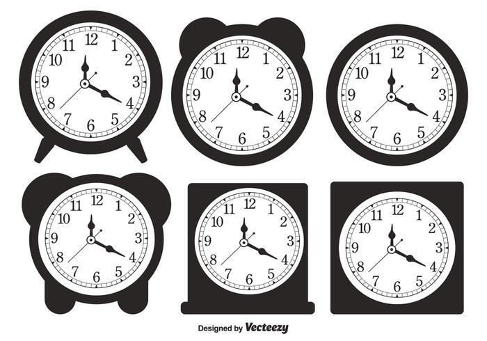 Formas de reloj de escritorio