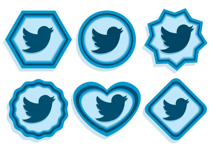 Twiiter Bird Icons vector
