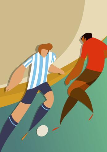 Jogadores de futebol da copa do mundo da Argentina vetor