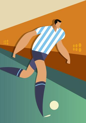 Argentina World Cup Soccer Players Illustration