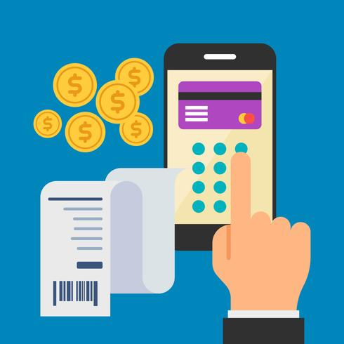 Unique Pay With Phone Vectors