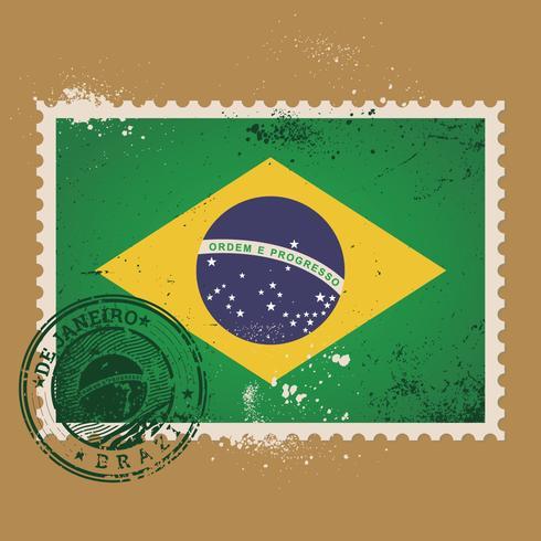 Timbre-poste du Brésil