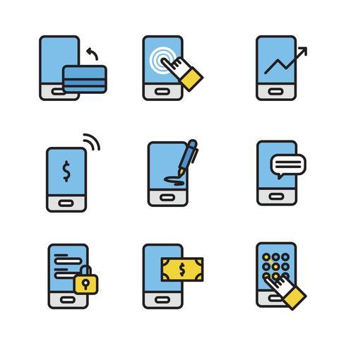 Geschetste Set van betaling iconen