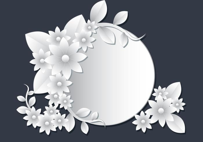 3D White Floral Papercraft