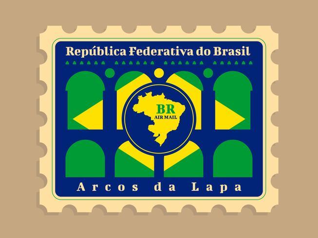 Vackra Brasil portostämpel vektorer