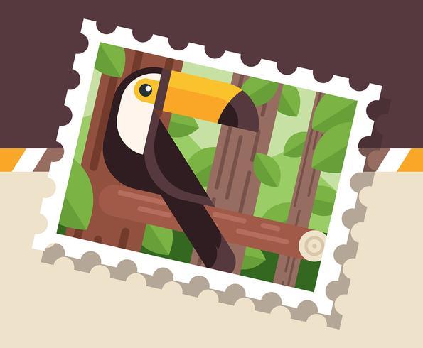 Ilustração de selo postal Brasil
